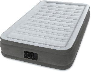 67766 Надувная кровать Comfort-Plush 99х191х33см, встроенный насос 220V