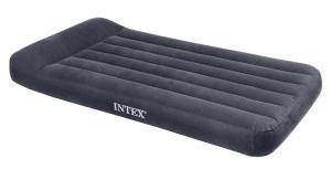 66779 Надувной матрас с подголовником Pillow Rest Classic Bed, 99х191х23см, встроенный насос