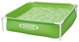 Бассейн на опорах Intex Mini Frame  арт. 57172 122х122х30 см, зеленый