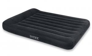 66780 Надувной матрас с подголовником Pillow Rest Classic Bed, 137х191х23см, встроенный насос