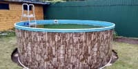 Сборный бассейн ЛАГУНА 48812 круглый 488х125 см (природный камень)