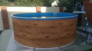 Сборный бассейн ЛАГУНА 54913 круглый 549х125 см (светлое дерево)