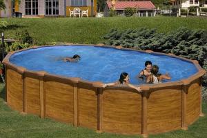 Каркасный бассейн GRE KITPR6188WOMAG овальный 610x375x132