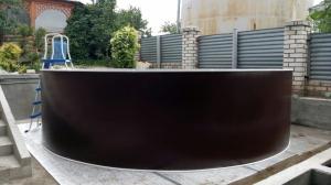 Сборный бассейн ЛАГУНА 54911 круглый 549х125 см (шоколад)
